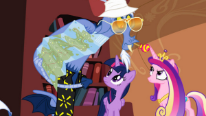 Discord_showing_a_map_to_Twilight_and_Cadance_S4E11